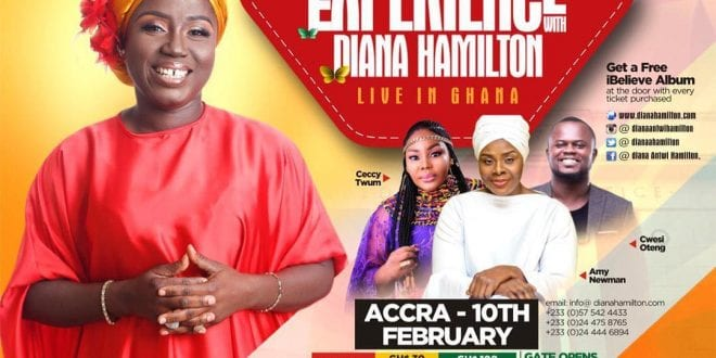 Diana Antwi Hamilton to storm Accra and Kumasi for the 2019 edition