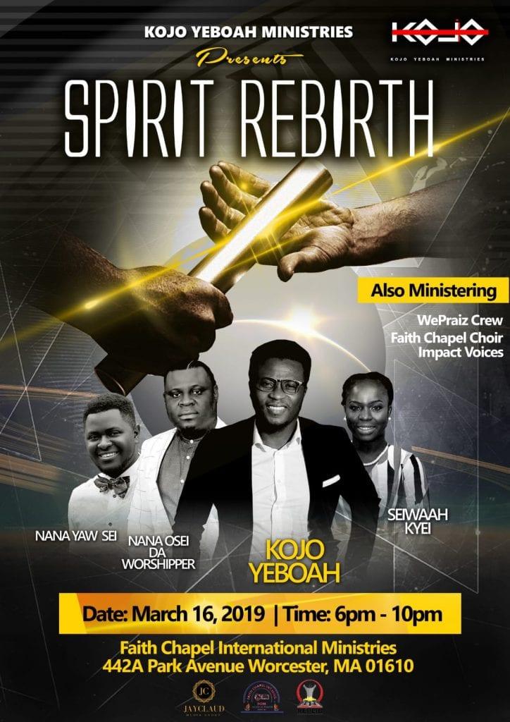US based Ghanaian gospel singer Kojo Yeboah to host a spirit