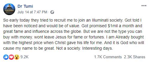 dr tumi illuminati