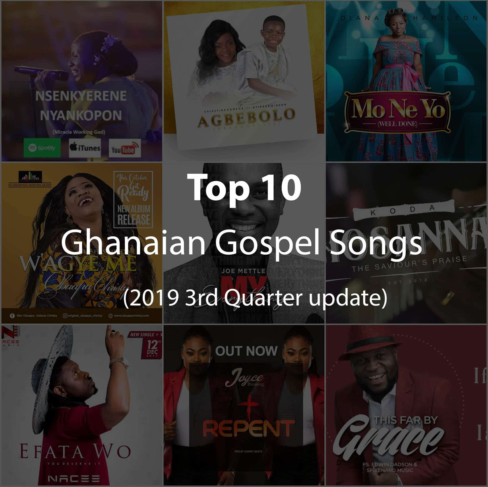 top 10 ghana gospel songs
