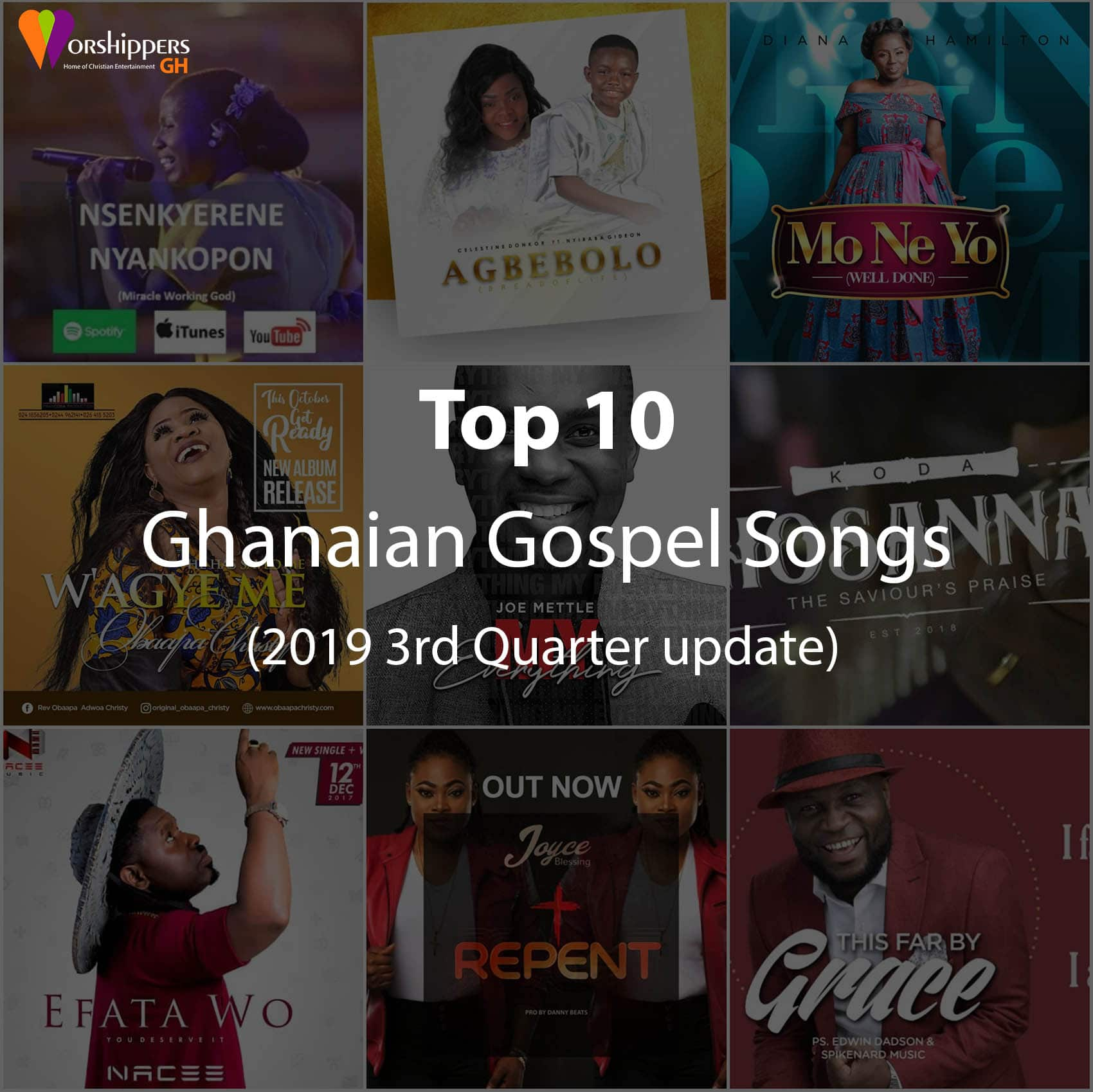 top10 ghana gospel songs