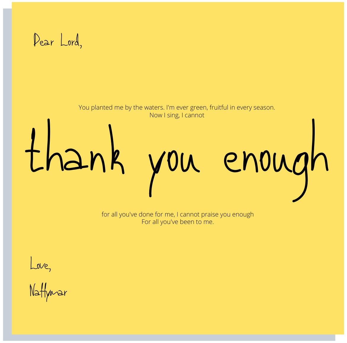 Naffymar - Thank you enough