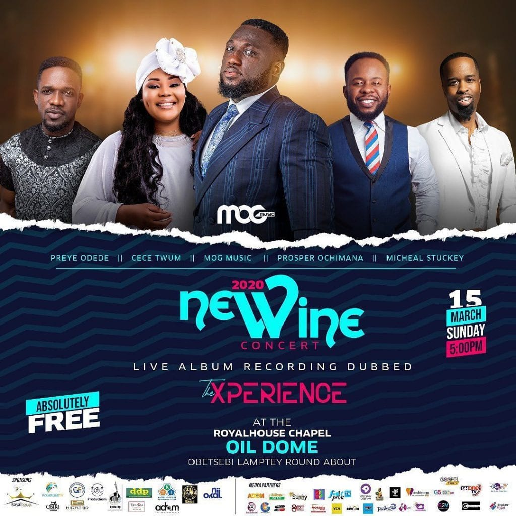 MOGmusic set to host, Prospa Ochimana, Preye, Ceccy Twum and more at New Wine Concert 2020